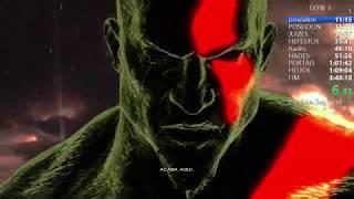 GOD OF WAR 3 - SPEEDRUN KRATOS DO MEDO - VERY HARD