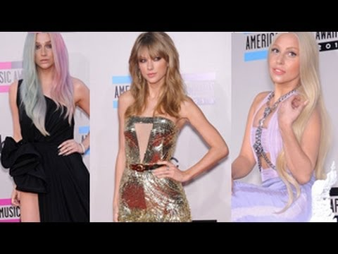 American Music Awards 2013 -- Best and Worst Dressed -- Taylor Swift, Miley Cyrus, Katy Perry, Gaga