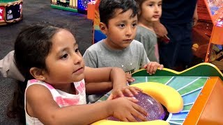 4 YR OLD TWINS CHALLENGE EACH OTHER AT CHUCK E CHEESES