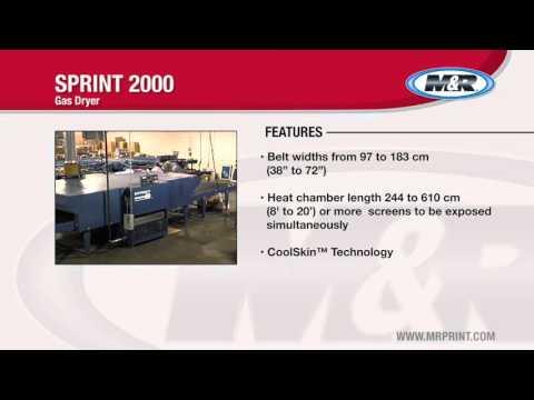 M&R Sprint 2000 Gas Conveyor Dryer   Dave Roper Ltd