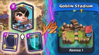 Clash Royale | PRINCESS + CLONE TROLLING ARENA 1! | *FUNNY MOMENTS* (Drop Trolling #61)