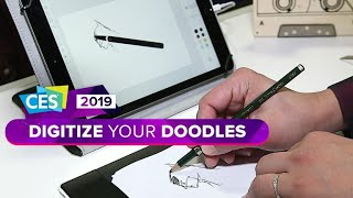 CES 2019: This tablet makes paper drawings digital
