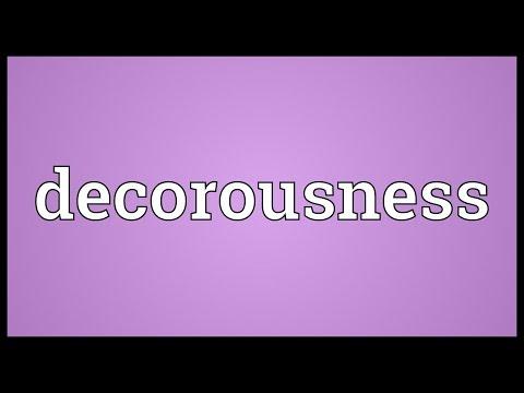 Header of decorousness