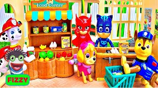 Learn Colors and Food Names for Kids with Paw Patrol Grocery Shopping
