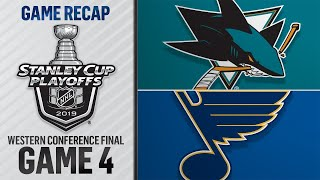 Blues win Game 4, even series with Sharks