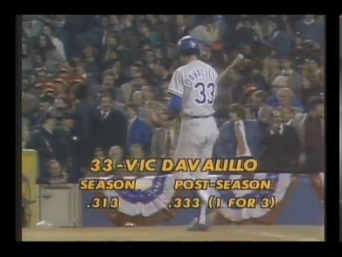 Víctor Davalillo en la Serie Mundial de 1977