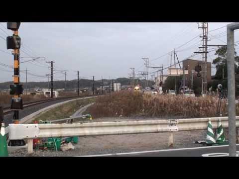 【一畑電車】 松江市西浜佐陀町線路切替 旧線最終日の列車(11-Dec-2010)