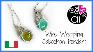 Wire Wrapping Cabochon Pendant | Tutorial Incastonatura Base | Square Wires