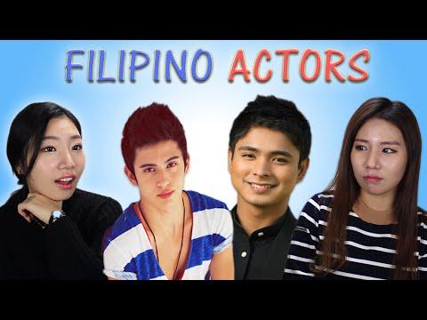 KOREAN GIRLS REACT TO PINOY (FILIPINO) ACTORS