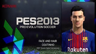 PES 2013 🎮 · PHILIPE COUTINHO FACE AND HAIR HD 2017/2018