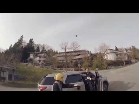 Cop Cuts Off Longboarders - Crash