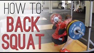 How to BACK SQUAT: How to Barbell Back Squat properly - exercise demo with perfect technique