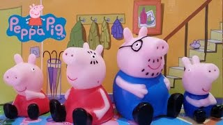 Peppa Pig & Family Toy Set: Peppa, George, Mummy & Daddy Figures!
