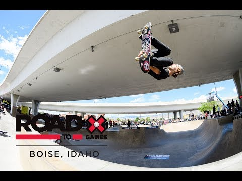 Men's Skate Park Final at Road to X Games: Boise Park Qualifier 2018