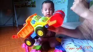Review mở bộ đồ chơi xúc cát cho bé yêu :3 Teppi Ngố TV