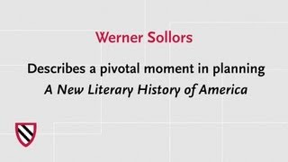A New Literary History of America | Radcliffe Institute