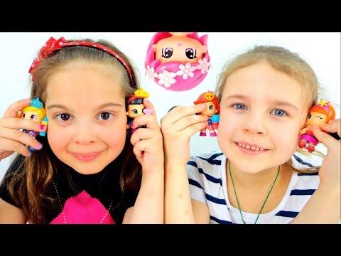 Куклы и игры для девочек. Пинипоны. Ксюша Дети и Родители. Игрушки для детей. Видео для детей