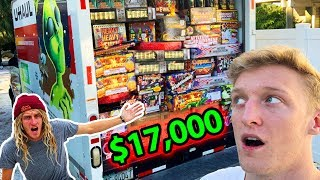 I Spent $17,000 On Fireworks with TFUE - (Party G0ne Wr0ng)