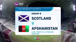 ICC #WT20 Scotland vs Afghanistan Highlights