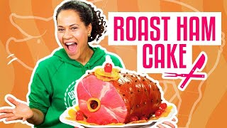 How To Make A Thanksgiving Roast Ham Out Of Pink Vanilla Cake  Yolanda Gampp  How To Cake It