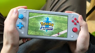 Así se ve POKÉMON ESPADA y ESCUDO en una Nintendo SWITCH LITE 😍 GAMEPLAY
