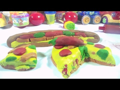 play doh pizza sandawich surprise eggs Spongebob angry birds disney duck play doh