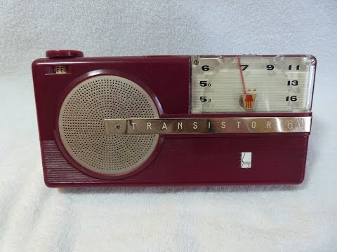 1956 Sony model TR-6 transistor radio (made in Japan)