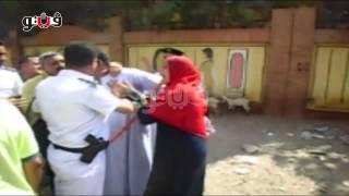بالفيديو.. ضابط يعتذر لسيدة حاول أمين شرطة التعدي عليها بالعمرانية