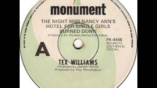 Watch Tex Williams Night Miss Nancy Anns Hotel For Single Girls Burned video