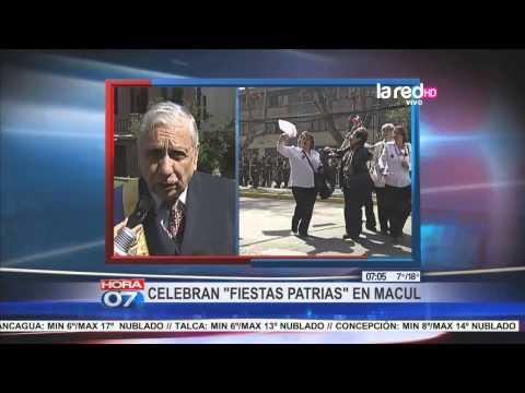 Celebran Fiestas Patrias en Macul