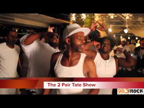 The 2 Pair Tate Show All White Boat Party A.Jizzle Performing LIVE