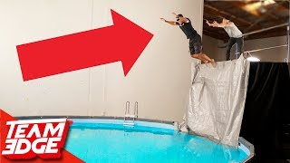 Don't Get Shoved Off The 15ft. Ledge!!
