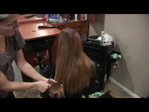Long Hair Layers Hair Cut // Natural Hairstyles // Basic layered haircut
