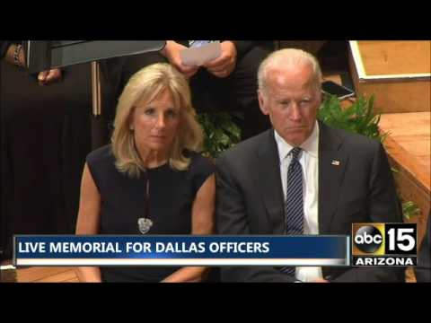 Heartbreaking. Vice President Joe Biden mourns fallen Dallas police officers