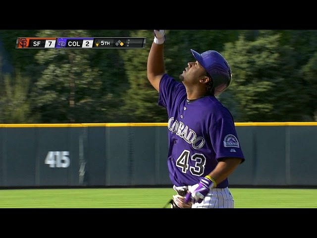 SF@COL: Ynoa racks up three hits, RBI in debut