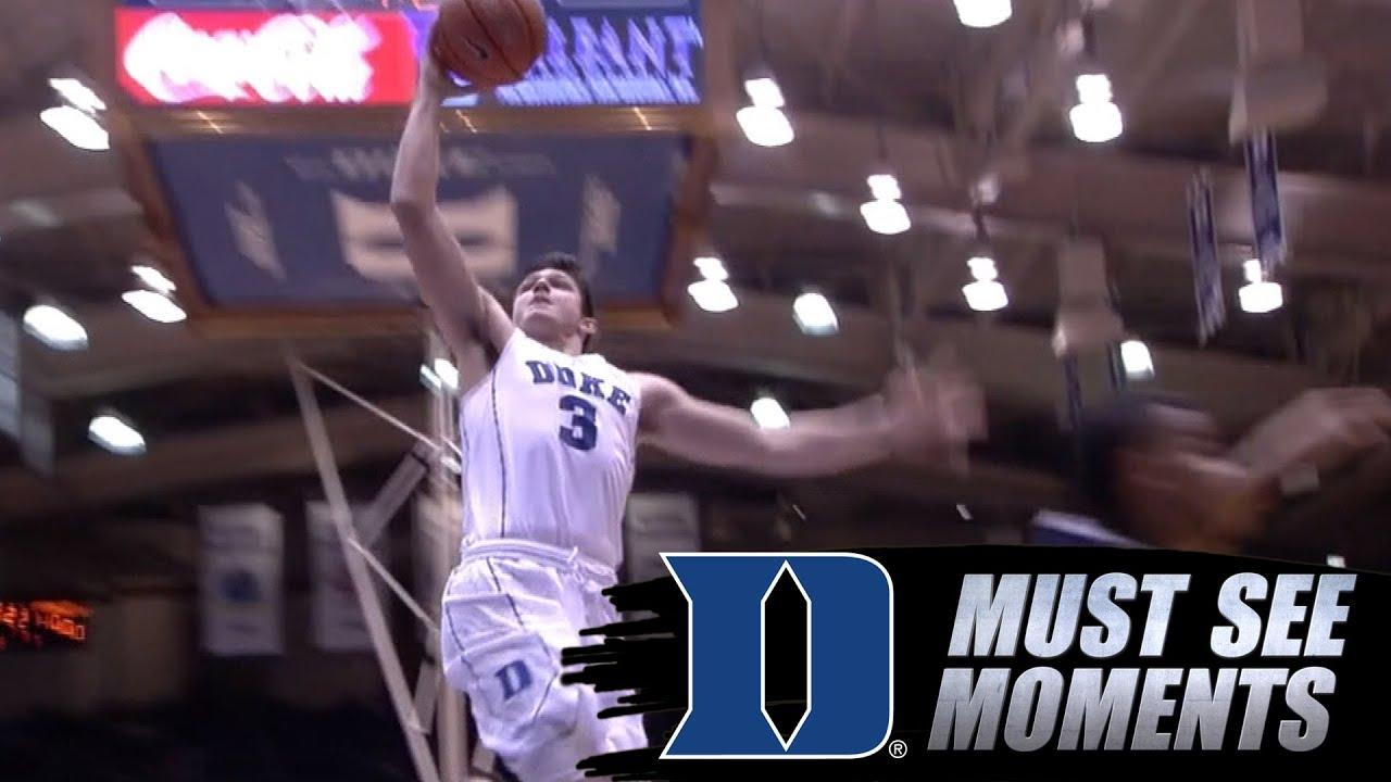 Duke Basketball: Grayson Allen Throws Down 1-Handed Dunk vs. Utah State