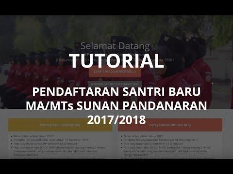 PP Sunan Pandanaran - Tutorial Pendaftaran Santri Baru 2017/2018