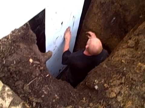 crack repair exterior wall crack leaking foundation crack basement waterproofing