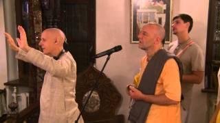 2014.10.20. Deities Greeting, Guru Puja HG Sankarshan Das Adhikari, Kaunas, Lithuania