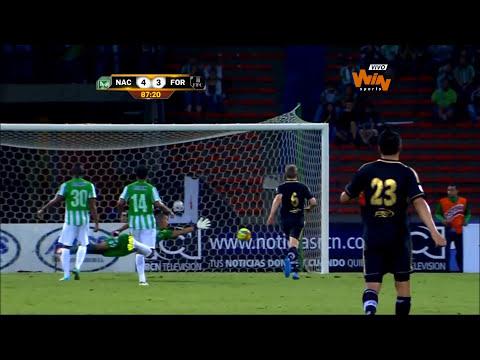 (Resumen) Nacional 4- 3 Fortaleza. Fecha 17 Liga Postobón 2014-I - Win Sports