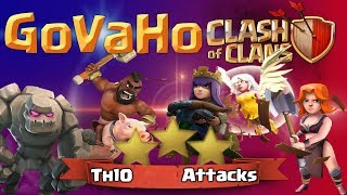 Hogs valkyrie attack th10 | Max loot | Attack Strategy | town hall 10 | Gaming BD Zone