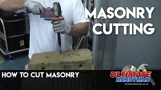 how to cut concrete or stone using a chisel