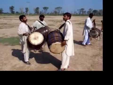 Dhol - Drum Beating Competition - AmjadsVillage Gogera Gugera Okara Punjab Pakistan