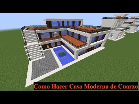 Como hacer una mansion moderna en minecraft parte 1 how for Construir casas modernas