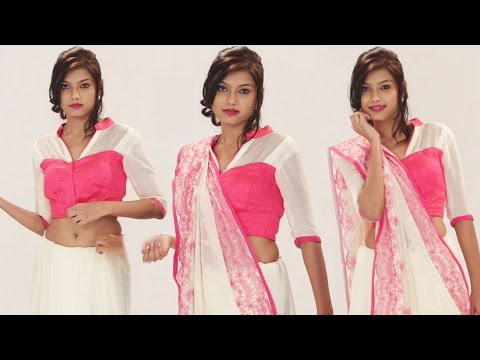 How To Wear A Saree In A Different Style To Look Slim