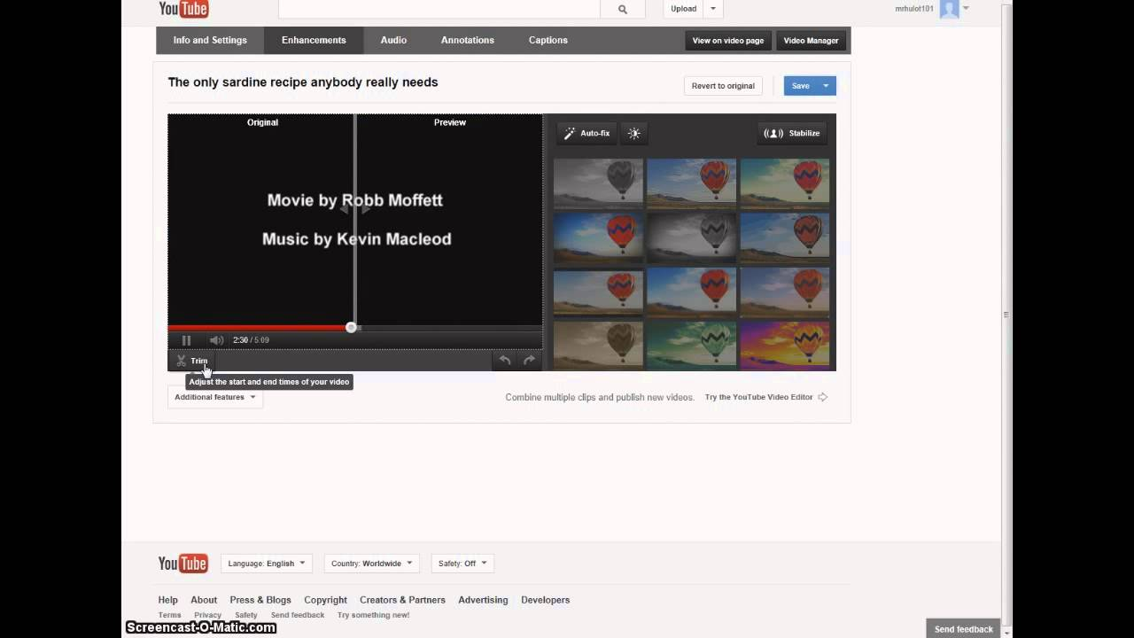 how to edit a you tube video add credits