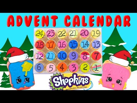 Shopkins Advent Calender! 24 Days of Surprise Toys - DIY Crafts by DCTC