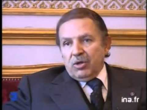 ALGERIE interview de Abdelaziz Bouteflika (Air France, lutte anti-térrorsite)