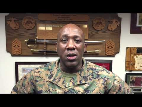 I Marine Expeditionary Force Sergeant Major Ronald L. Green