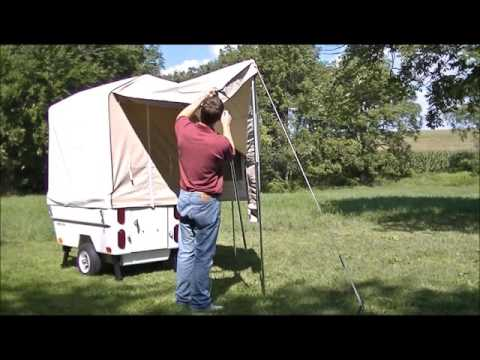 Awning Setup for Mini Mate Camper